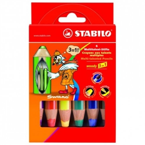 Pastelli-Woody-3-in-1-senza-Temperino-STABILO